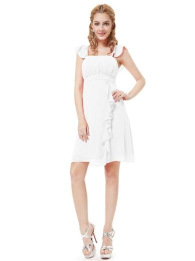 Ever Pretty šaty do tanečních, plesové bílé 3337