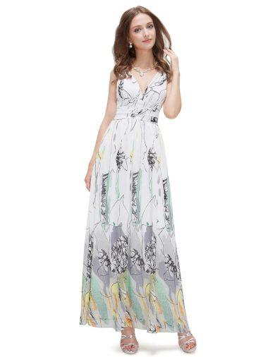 Ever Pretty letní dlouhé květinové šaty 9610