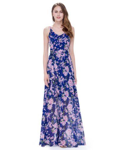 Ever Pretty letní šaty modré kytičkované 8902