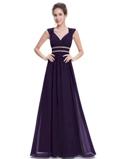 Ever Pretty šaty dlouhé elegantní fialové 8697