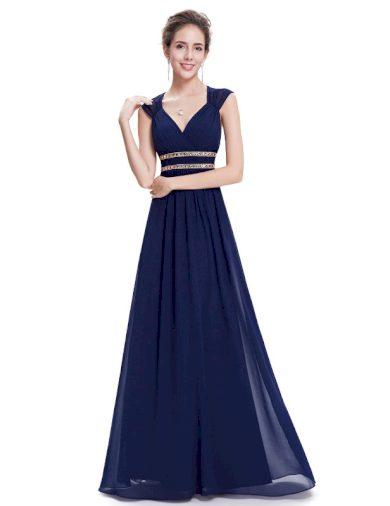 Ever Pretty šaty dlouhé elegantní tmavě modré 8697