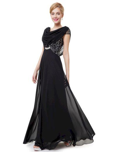 Dámské elegantní Ever Pretty plesové šaty černé 9989