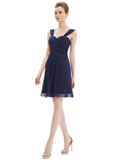Plesové šaty krátké tmavě modré Ever Pretty 3539