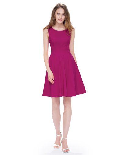 Ever Pretty luxusní letní šaty růžové 5511