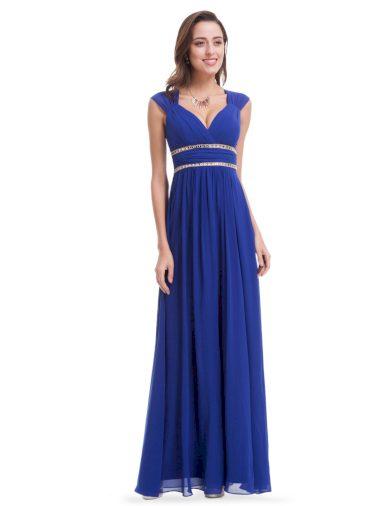 Ever Pretty šaty dlouhé elegantní modré 8697