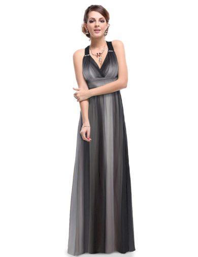 Ever Pretty letní šaty černé žíhané 9735