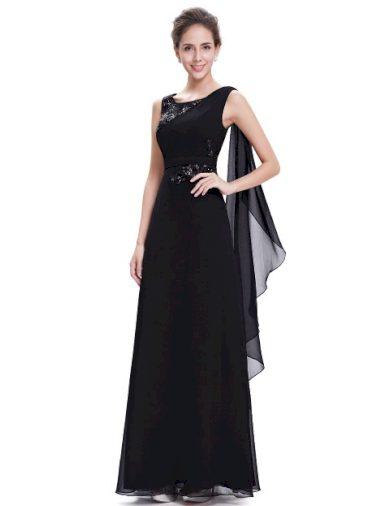 Ever Pretty plesové šaty s flitry černé 8693