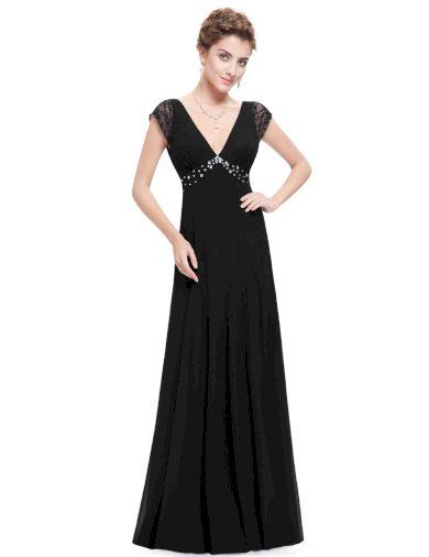 Ever Pretty šaty dlouhé elegantní černé 8068