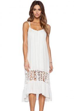 A Letní bílé šaty s krajkou 60100