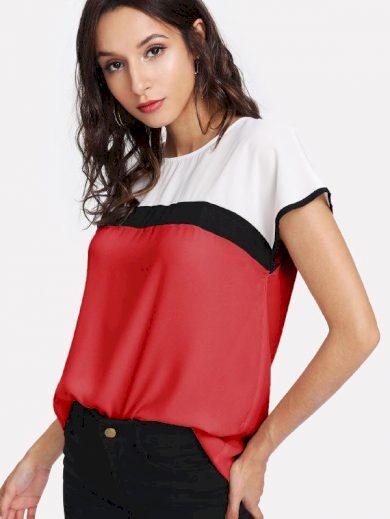 A Luxusní dámská tunika červená 3704