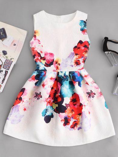 A Luxusní krátké letní šaty 3101