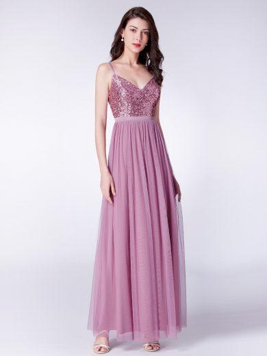 Dámské luxusní plesové šaty Ever Pretty růžové 7392