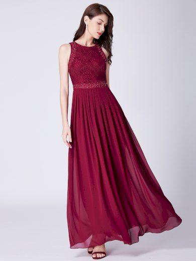 Dámské elegantní plesové šaty Ever Pretty bordó 7391