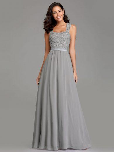 Dámské luxusní šedé šaty Ever Pretty 7704
