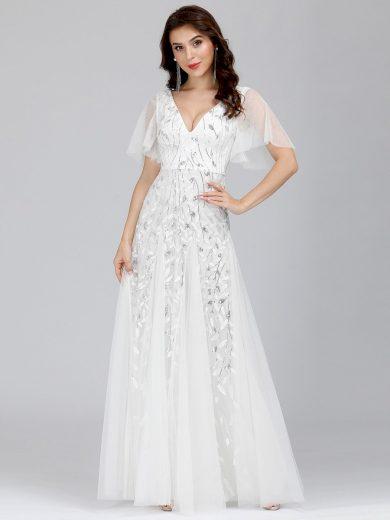 Dámské luxusní bílé šaty Ever Pretty 0734