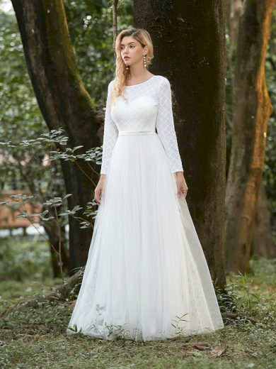 Dámské luxusní krémové šaty Ever Pretty 0314