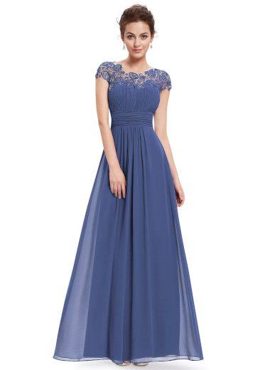 Ever Pretty krajkové šaty modro šedá 9993