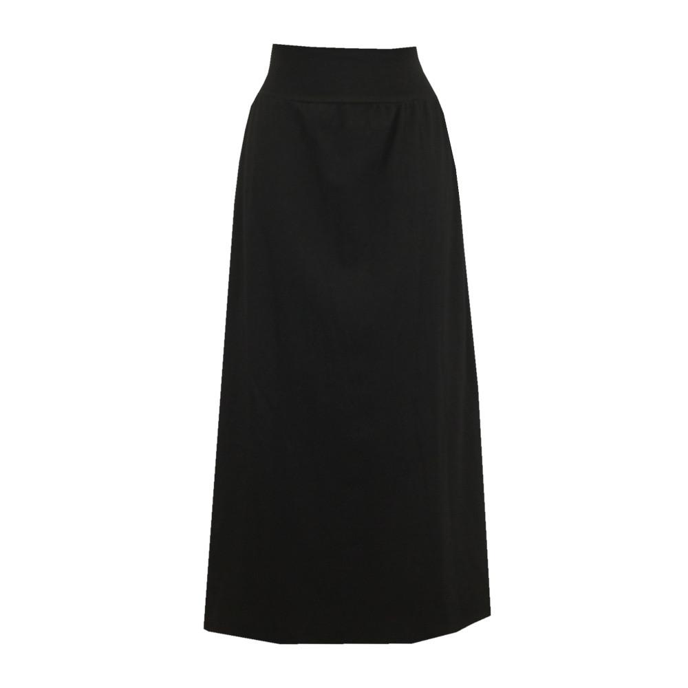 Letní bavlněná dlouhá sukně, hladká s rozparky