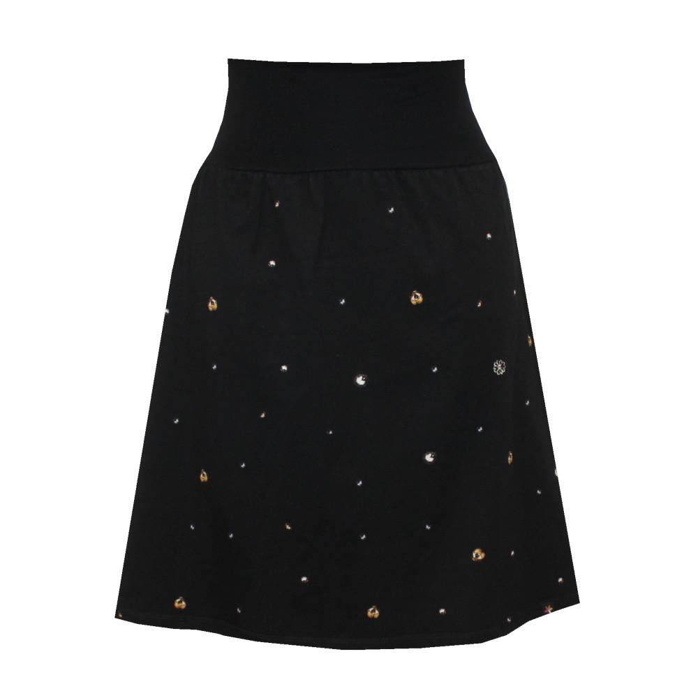 Hladká áčková sukně, drobné vzory