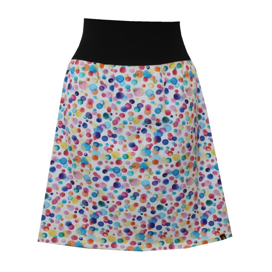 Hladká áčková sukně, bubliny