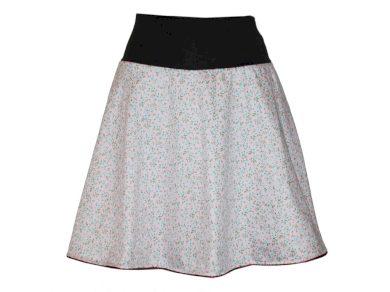 Bavlněná růžová sukně s kvítky