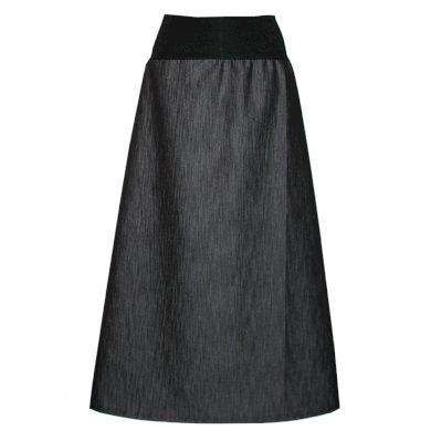 Dlouhá džínová sukně