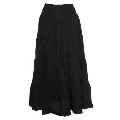 Černá dlouhá dámská letní sukně