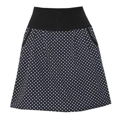 Balonová sukně, černá s puntíky, kapsy