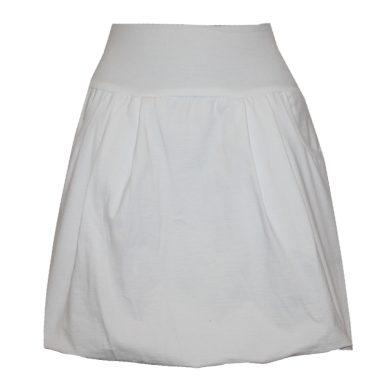 Bavlněná balonová sukně, bílý pas, kapsy