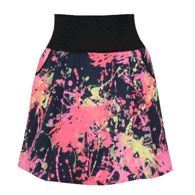 Pestrobarevná balonová sukně, kapsy