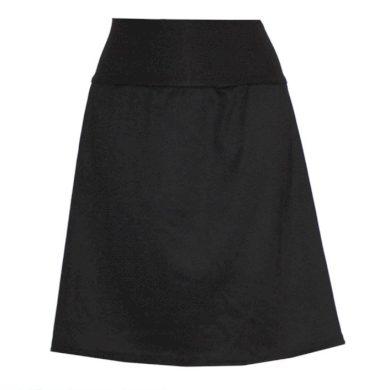 Hladká áčková sukně