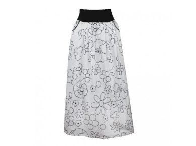 Malovaná letní dlouhá bavlněná sukně, kapsy