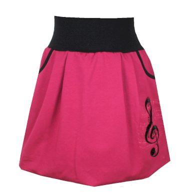 Vínová balonová sukně, houslový klíč, kapsy