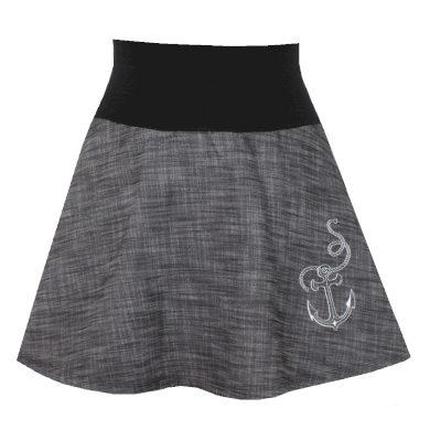 Dámská džínová krátká sukně, kotva