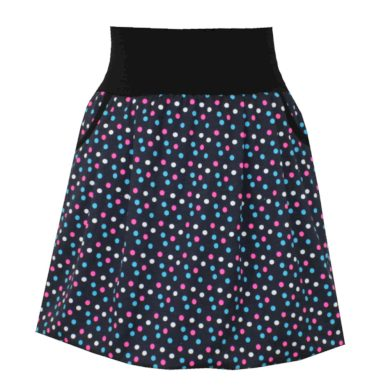 Balonová sukně, barevné puntíky, kapsy
