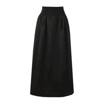 Kostýmová dlouhá sukně, sklady v pase
