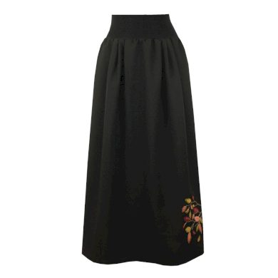 Kostýmová dlouhá sukně, větvička s listy