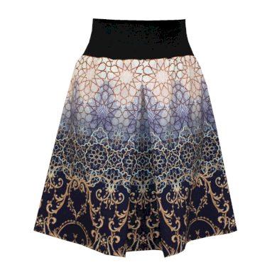 Dámská sukně s protiskladem, ornamenty