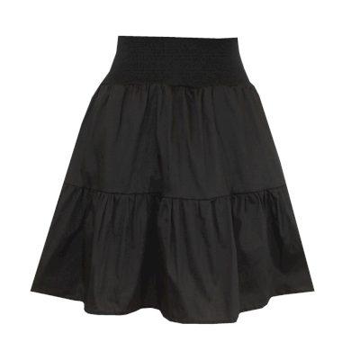 Černá volánová sukně