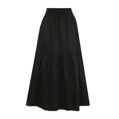 Černá dlouhá volánová sukně
