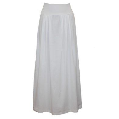 Bílá bavlněná dlouhá sukně, sklady