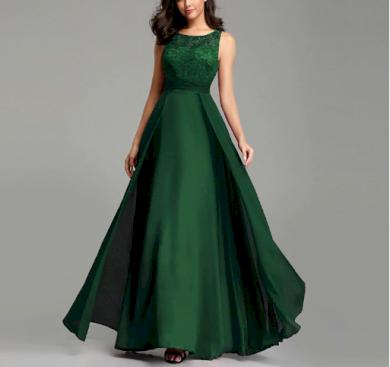 Dlouhé elegantní večerní plesové společenské šaty SLEVA
