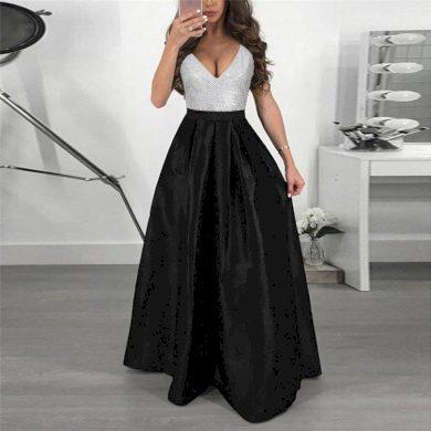Luxusní večerní dámské společenské šaty s dlouhou sukní