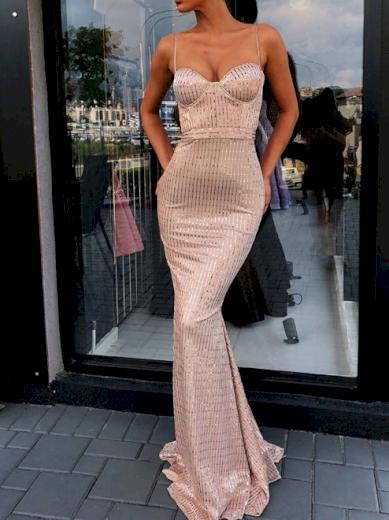 Luxusní nádherné večerní plesové společenské šaty s vlečkou
