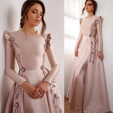 Nádherné elegantní plesové družičkovské dámské šaty s květinami