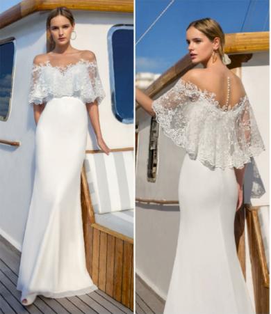 Nádherné bílé krajkové družičkovské šaty s volánkem