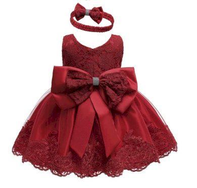 Nádherné dívčí společenské šaty s čelenkou ve více barvách