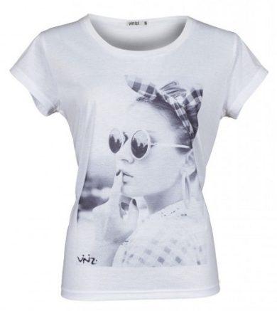 Dámské bílé triko s potiskem