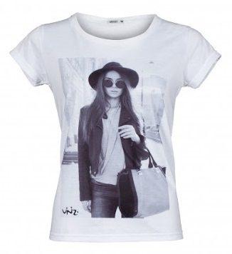 Bílé dámské triko s potiskem