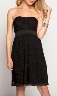 Dámské černé šaty s krajkou